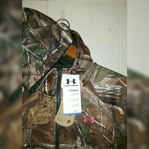 Under Armour Hunting Camo Hoodie Jacket Women XL